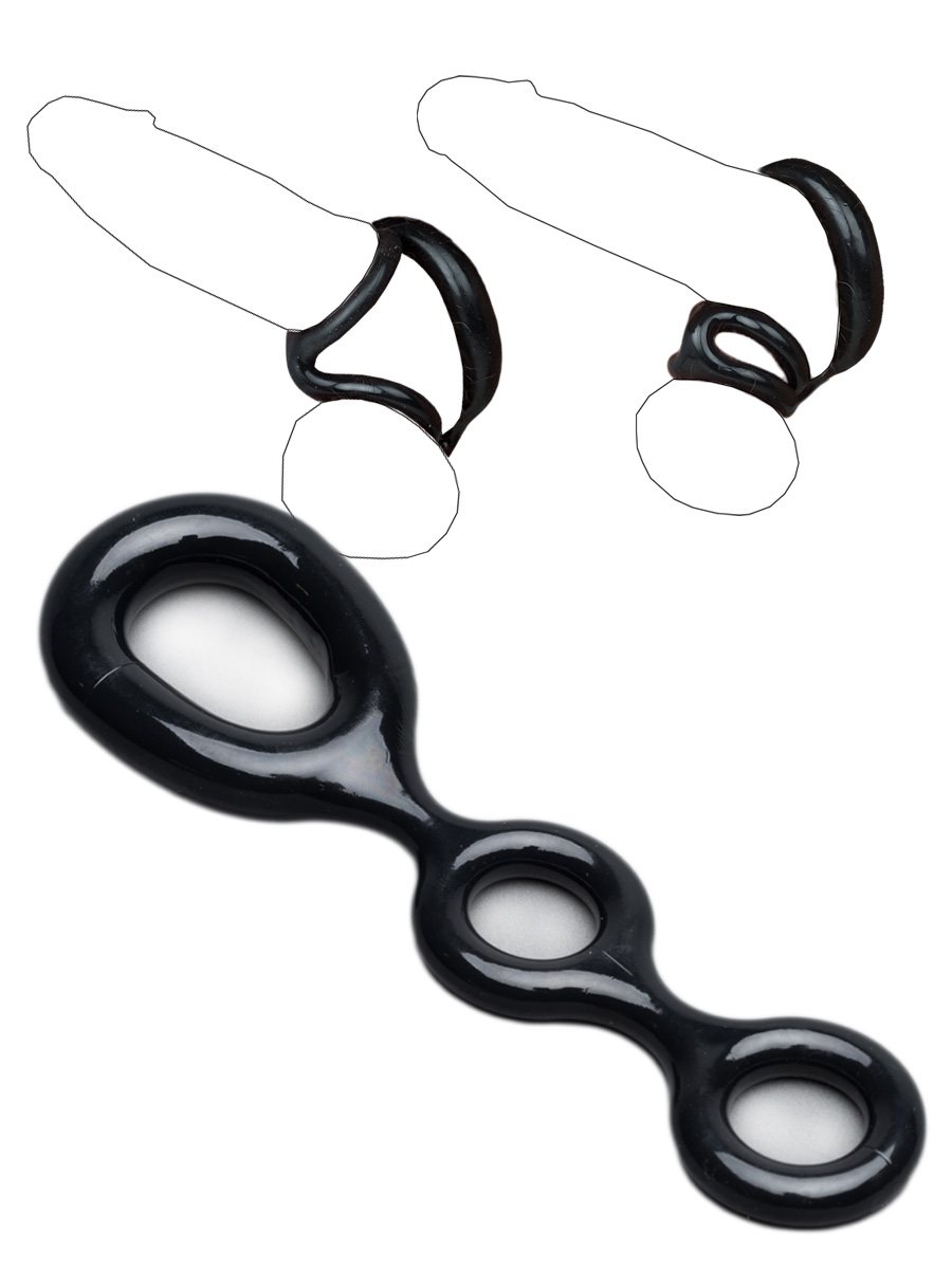 Cockring 3-Way Black