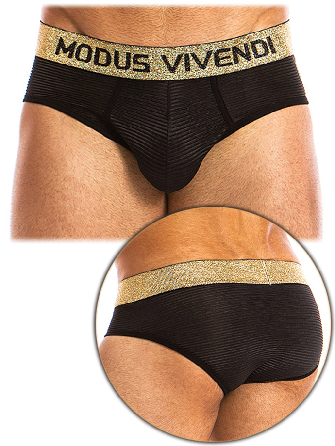 Modus Vivendi - Festive Lux Brief - Black