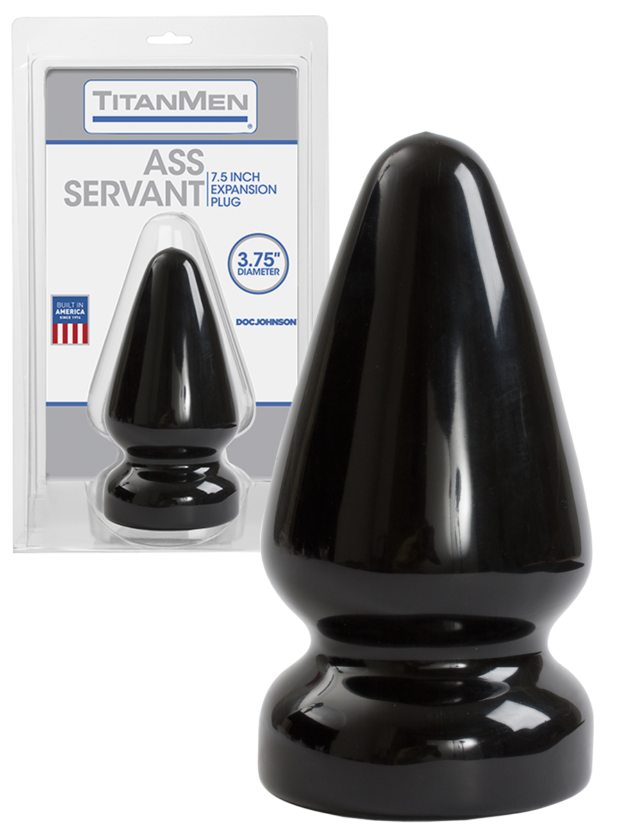 Titanmen Ass Servant Buttplug - black