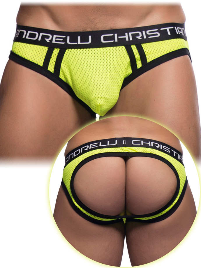 Andrew Christian - Air Mesh Jock with Almost Naked - Yellow