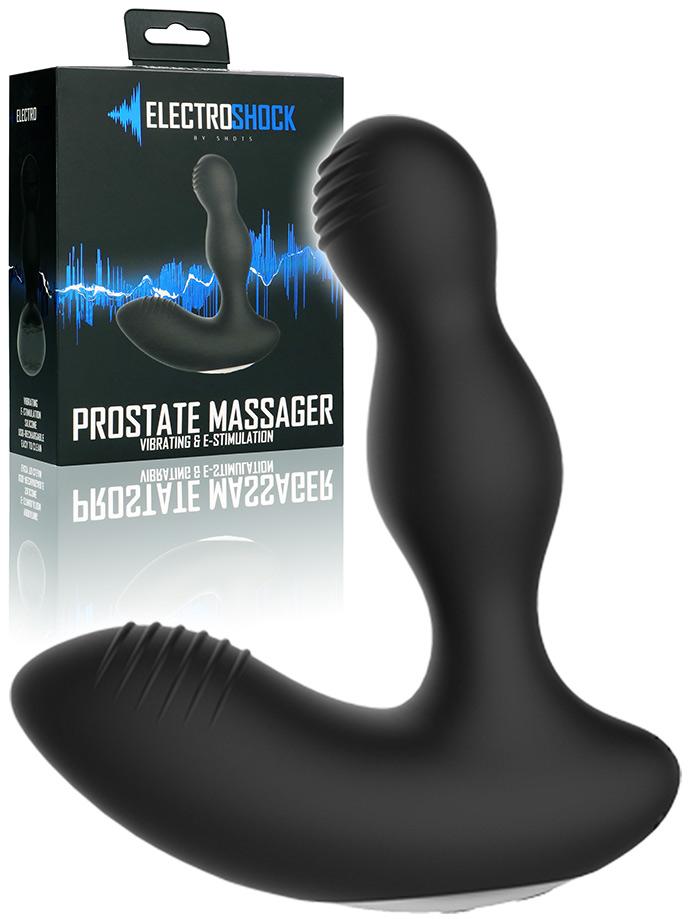 Electroshock - E-Stim Vibrating Prostate Massager - Black