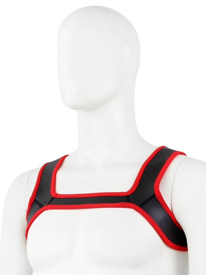Pupplay Neoprene Harness - Red/Black