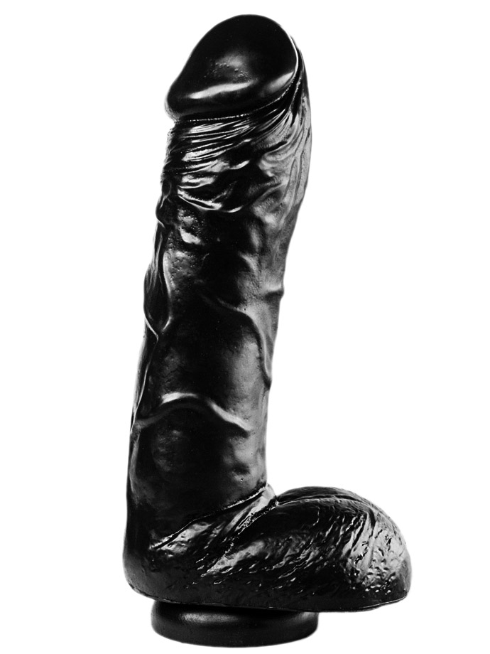 Dark Crystal Black Medium Dildo DC47