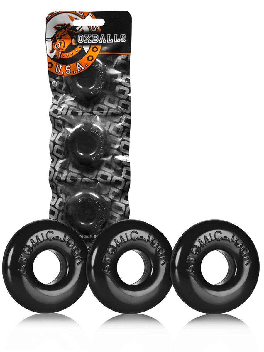 Cock Ring Ringer 3-Pack Black