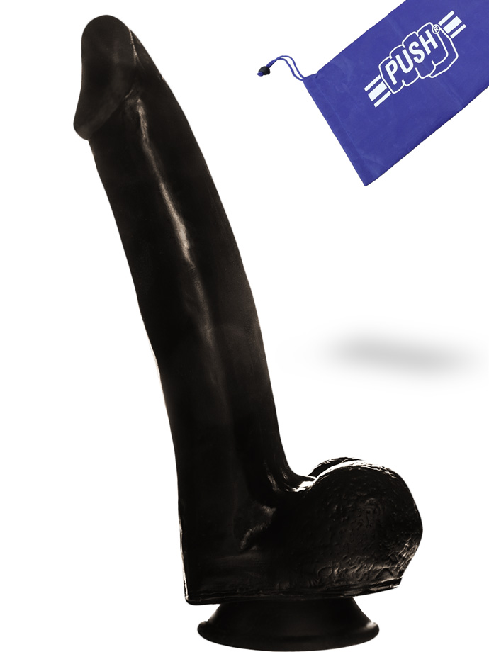Penis Dildo Push Black 6.7 inch with Suction Cup