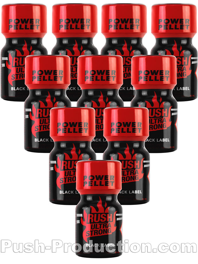 10 x RUSH ULTRA STRONG - BLACK LABEL small - PACK