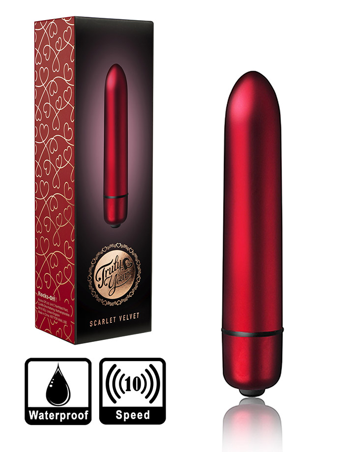 10 Speed RO-90mm Bullet Vibrator - Scarlet Velvet