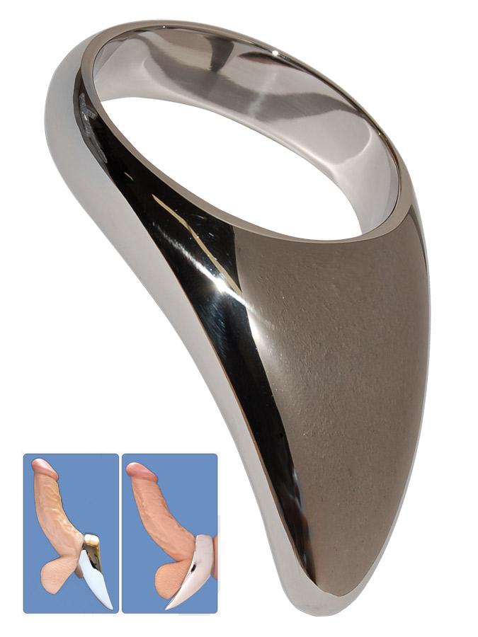 Stainless Steel Teardrop Cock Ring - 45mm